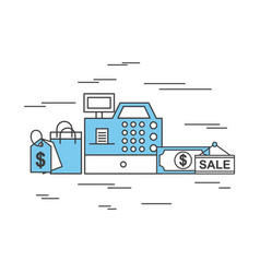 online shopping icons set concept vector image