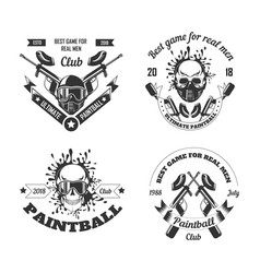 paintball game sport club logo templates gamer vector image