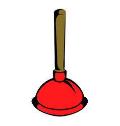 Plunger icon cartoon vector