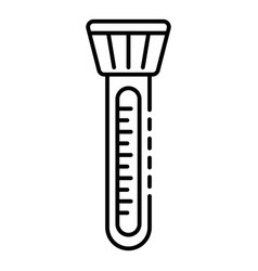 pool thermometer icon outline style vector image