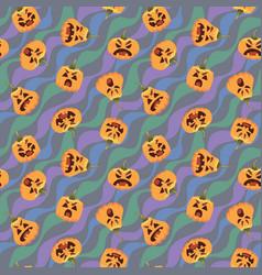 pumpkin halloween pattern of vector image