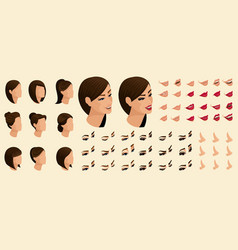 Qualitative create your emotions in the isometric vector