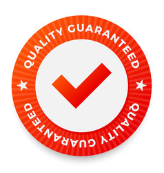 quality guarantee label round stamp for high vector image