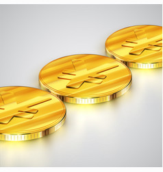 realistic coins vector image