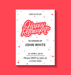retirement party invitation vector image