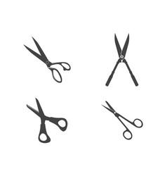 Scissors logo icon template vector