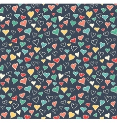 Seamless Festive Love Abstract Pattern with Hand vector