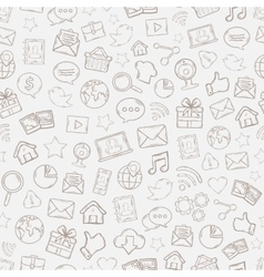 Seamless mobile apps pattern vector