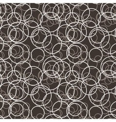 seamless pattern of randomly circles vector image