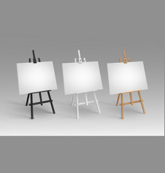 set of white black brown sienna wooden vector image