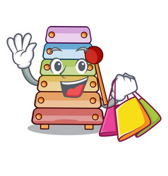 shopping toy xylophone on cartoon childrens vector image