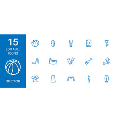 Sketch icons vector