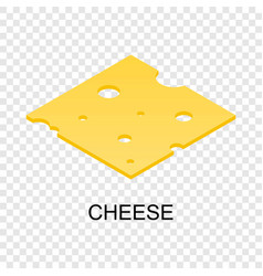 Sliced cheese icon isometric style vector