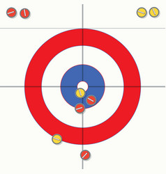 Sport of curling stones on ice vector