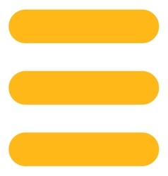 Stack flat yellow color icon vector