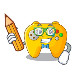 Student video game controller shaped on charcter vector