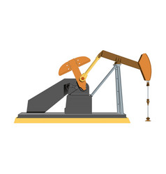 the oil industry oil pump vector image