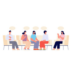 therapy support group addiction group female vector image