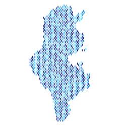 Tunisia map population demographics vector