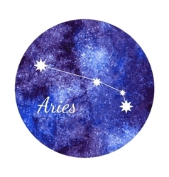 Watercolor horoscope sign aries vector