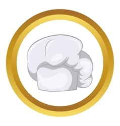 White chef hat icon vector image