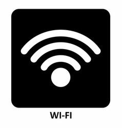 wi-fi symbol vector image