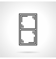 Window frame black line icon vector image