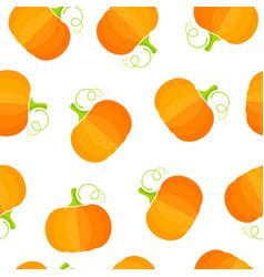 yellow pumpkin summer vegetable seamless pattern vector image