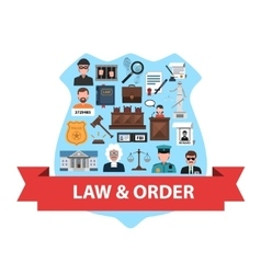 Law Concept Flat vector image vector image