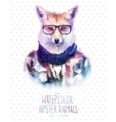 red fox portrait in vector image vector image
