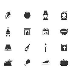Thanksgiving simply icons vector