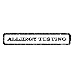 allergy testing watermark stamp vector image