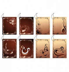 coffee banners design vector image vector image