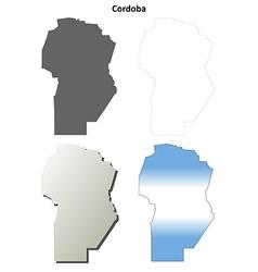 Cordoba blank outline map set vector