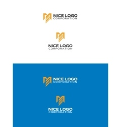 M and E letters logo vector image vector image