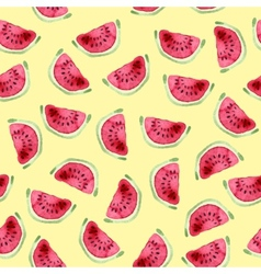 Watermelon seamless pattern Hand drawn watercolor vector image vector image