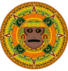 ancient god aztec vector image vector image