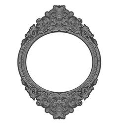engraved floral frame vector image vector image