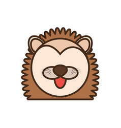 face porcupine cartoon animal vector image vector image
