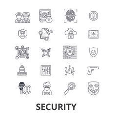 security safety protection lock safe guard vector image