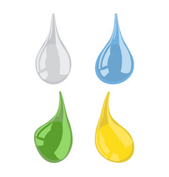 set of drops vector image vector image