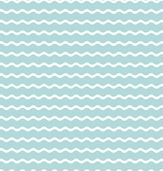 wave blue background seamless pattern vector image