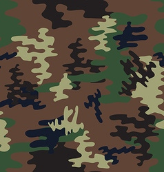 Camouflage seamless patternwoodland style vector