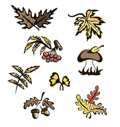 Fall images for decoration vector image vector image