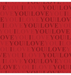 I love you - seamless red wrapping paper vector