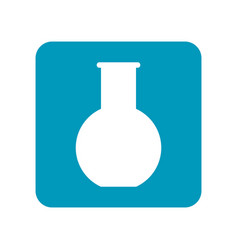 round flask flat icon of laboratory equipment for vector image