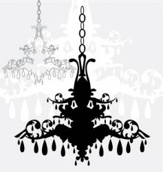 simple chandelier graphic vector image vector image
