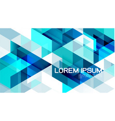 Abstract gradient blue mixed geometric template vector