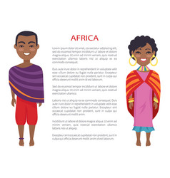 africa people and customs on vector image