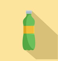 aloe plastic bottle icon flat style vector image